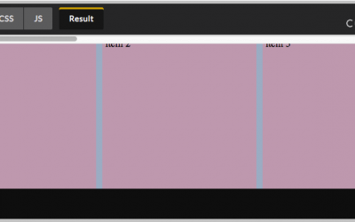 Pure CSS Horizontal Scrolling